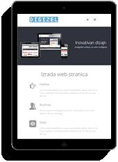 web stranica na tabletu