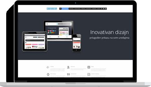 web stranica na macbooku